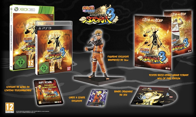 Naruto Shippuden Ultimate Ninja Storm 3 Will Of Fire - Collector Edition