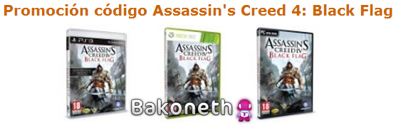 Promoción código Assassin's Creed 4 Black Flag
