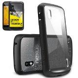 Ringke Fusion - Carcasa para Google Nexus 4 (carcasa híbrida, top ventas), negra _bakoneth